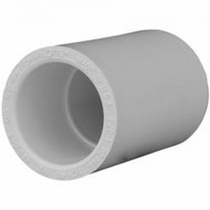 32 mm PVC High Pressure Fitting Straight Connector Socket White Front