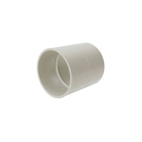 50 mm PVC High Pressure Fitting Straight Connector/Socket-White