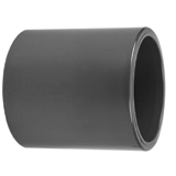 32 mm Fitting PVC High Pressure Fitting Straight Socket Connector Grey